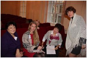Участники тренинга 21.11.12. Тренинговая работа в малых группах.