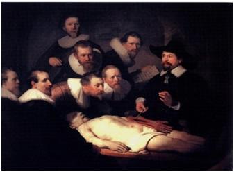 Урок анатомии доктора Тульпа. Рембрандт ван Рейн. (1632 г.)