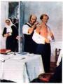 Н.И. Пирогов осматривает больногоД. Менделеева.И. Тихий (1964 г.)
